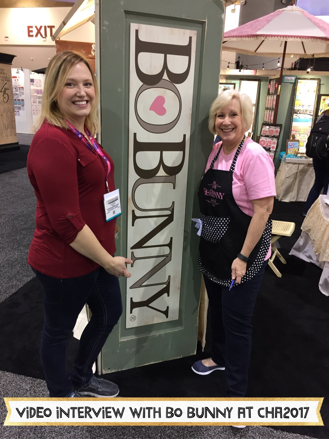 Video Interview withJeri Tanner from Bo Bunny CHA2017 Creativation. #CHA2017 #Creativation #BoBunny #lifeincolor #aryiasgarden #gameon #makeasplash #faith