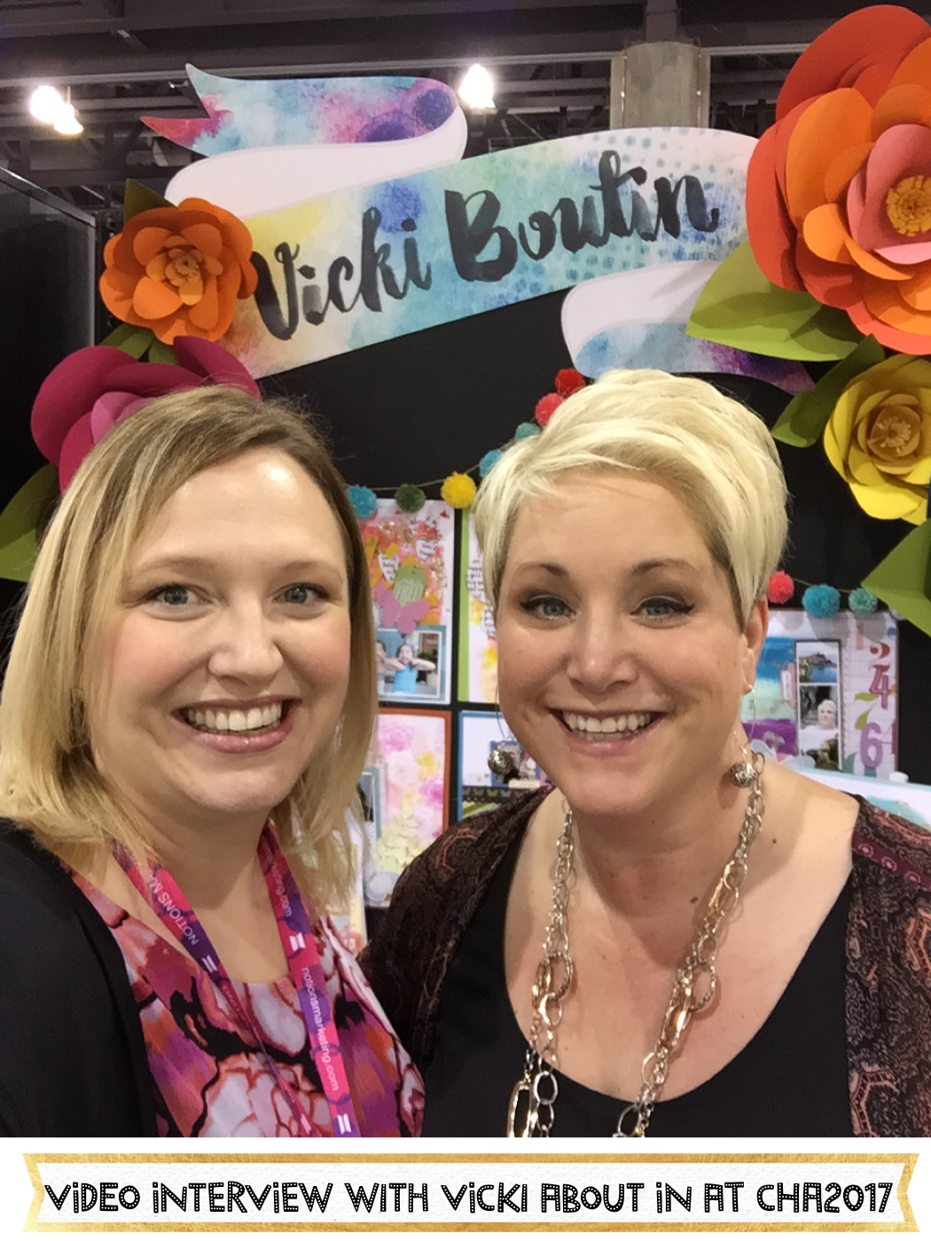 Video interview with Vicki Boutin at CHA2017 Creativation. #mixedmedia #scrapbooking #CHA2017 #creativation #vickiboutin