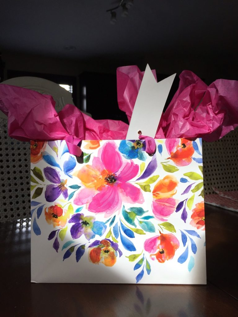 watercolour gift bag inspiration