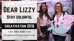 VIDEO: Dear Lizzy's new 'Stay Colorful' collection released at Creativation 2018 is bright and fun and full of darling embellishments! #dearlizzy #staycolorful #video #creativation2018
