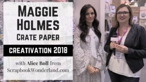VIDEO: Check out Maggie Holmes collections she released at Creativation 2018 at with Crate Paper. We take a look at Carousel from summer 2017 and the new Flourish line for Spring 2018. #maggieholmes #cratepaper #scrapbook #scrapbooking #creativation2018